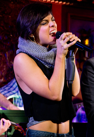 "<p>Krysta Rodriguez belts ""Calling Out My Name.""</p><br />(© David Gordon)"