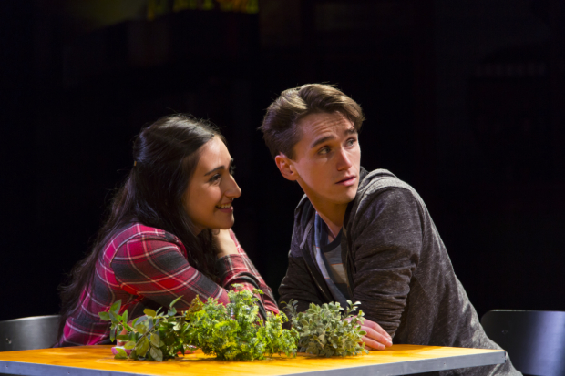 <p>Krystina Alabado and Tyler Jones share the stage.</p><br />(© T. Charles Erickson)