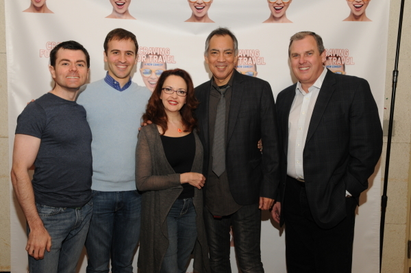<p>(L to R): Writer Greg Edwards, writer/director Andy Sandberg, actress Michele Ragusa, actor Thom Sesma, and producer Jim Strong. </p><br />(© Tyrone Rasheed)