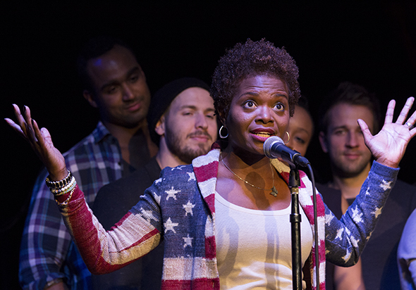 "<p>LaChanze sings one of her big numbers, ""It's a Sign.""</p><br />(© David Gordon)"