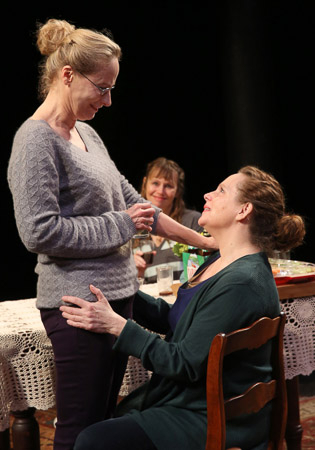 <p>Laila Robins and Maryann Plunkett play sisters in Richard Nelson&#39&#x3B;s four dramas.</p><br />(@ Joan Marcus)