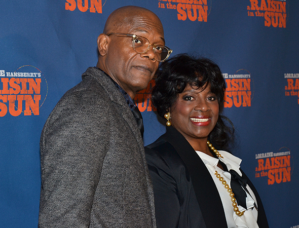 <p>LaTanya Richardson Jackson, seen here with her husband, Samuel L. Jackson, plays Lena Younger, Walter Lee and Beneatha&#39&#x3B;s mother.</p><br />(© David Gordon)