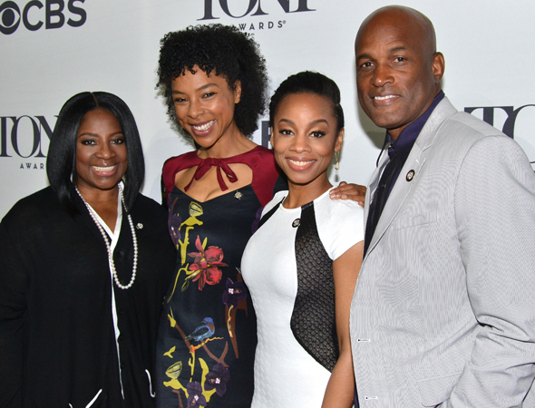 <p>LaTanya Richardson Jackson, Sophie Okonedo, Anika Noni Rose, and Kenny Leon are all part of the nominated <em>Raisin in the Sun</em> family.</p><br />(© David Gordon)