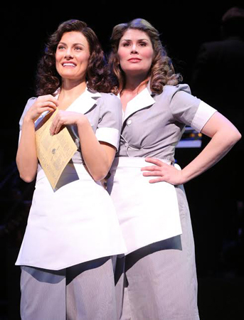 <p>Laura Benanti and Heidi Blickenstaff are sassy waitressing friends.</p><br />(© Joan Marcus)