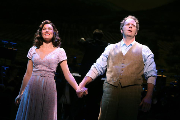 <p>Laura Benanti and Shuler Hensley clasp hands during Encores!&#39&#x3B;s first performance of <em>The Most Happy Fella</em>.</p><br />(© Joan Marcus)