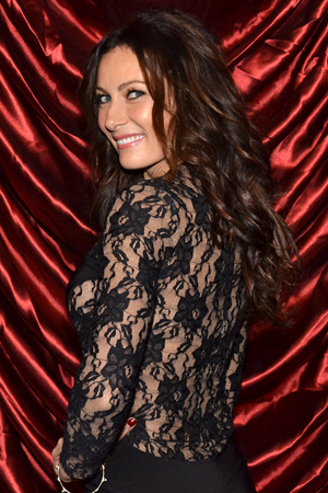 <p>Laura Benanti shows off her lacy opening-night dress.</p><br />(© David Gordon)