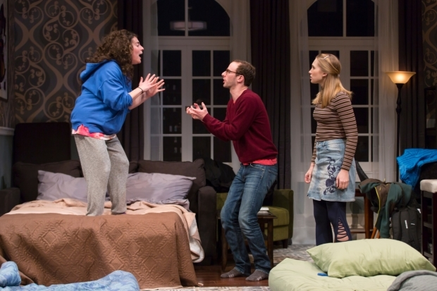 <p>Laura Lapidus and Alec Silberblatt get into it as Maddie Jo Landers looks on.</p><br />(© T. Charles Erickson)