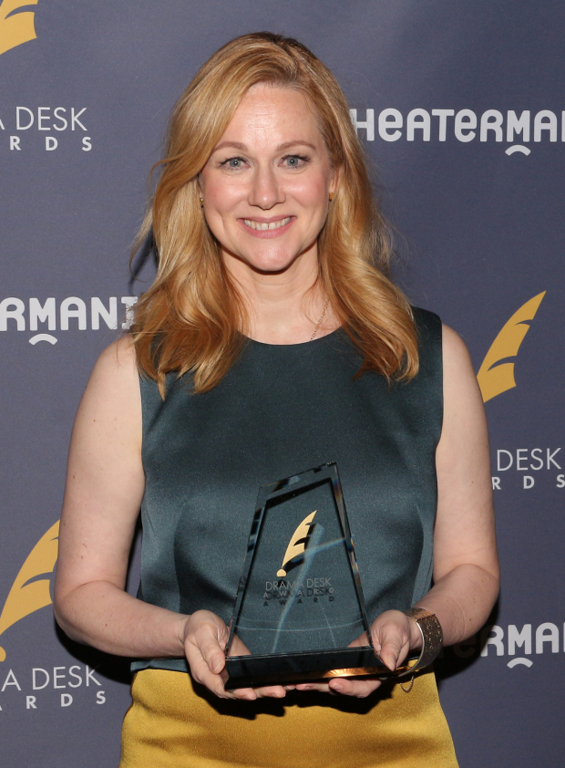 <p>Laura Linney, Outstanding Actress in a Play recipient for <em>The Little Foxes</em>.</p><br />(© David Gordon)