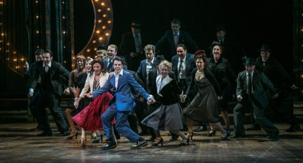 <p>Laura Osnes and Corey Cott lead a dance number.</p><br />(© Jerry Dalia)
