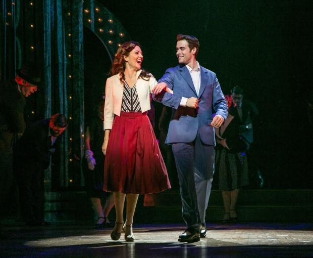 <p>Laura Osnes and Corey Cott share a dance.</p><br />(© Jerry Dalia)