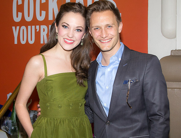 <p>Laura Osnes and her husband, Nathan Johnson, are always ready with a big smile.</p><br />(© Seth Walters)