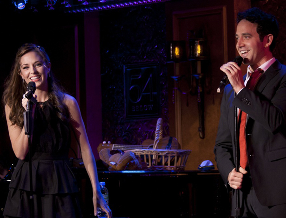 <p>Laura Osnes and Santino Fontana sing a duet.</p><br />(© Kevin B. Winebold)