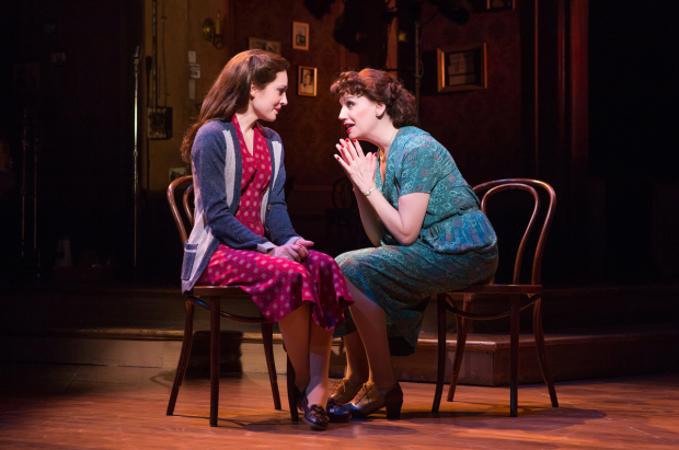 <p>Laura Osnes sits with costar Beth Leavel.</p><br />(© Jeremy Daniel)