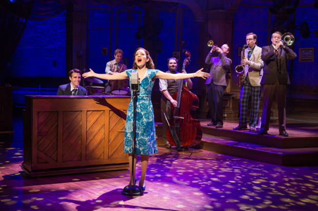 <p>Laura Osnes takes center stage during a number from the show.</p><br />(© Jeremy Daniel)