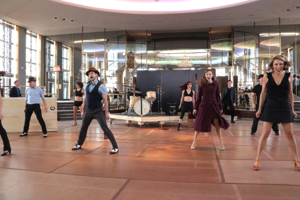 <p>Laura Osnes takes part in a <em>Bandstand</em> dance number.</p><br />(© David Gordon)