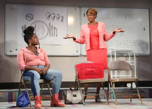 <p>Lauren F. Walker and Sandra Caldwell in a scene from <em>Charm</em>.</p><br />(© Joan Marcus)