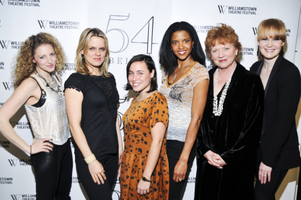 <p>Lauren Molina, Amy Spanger, Emma Galvin, Renee Elise Goldsberry, Becky Ann Baker, and Kate Baldwin.</p><br />(© Jenny Anderson)