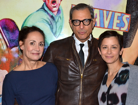 <p>Laurie Metcalf and Jeff Goldblum share a photo with their director, Anna D. Shapiro.</p><br />(© David Gordon)