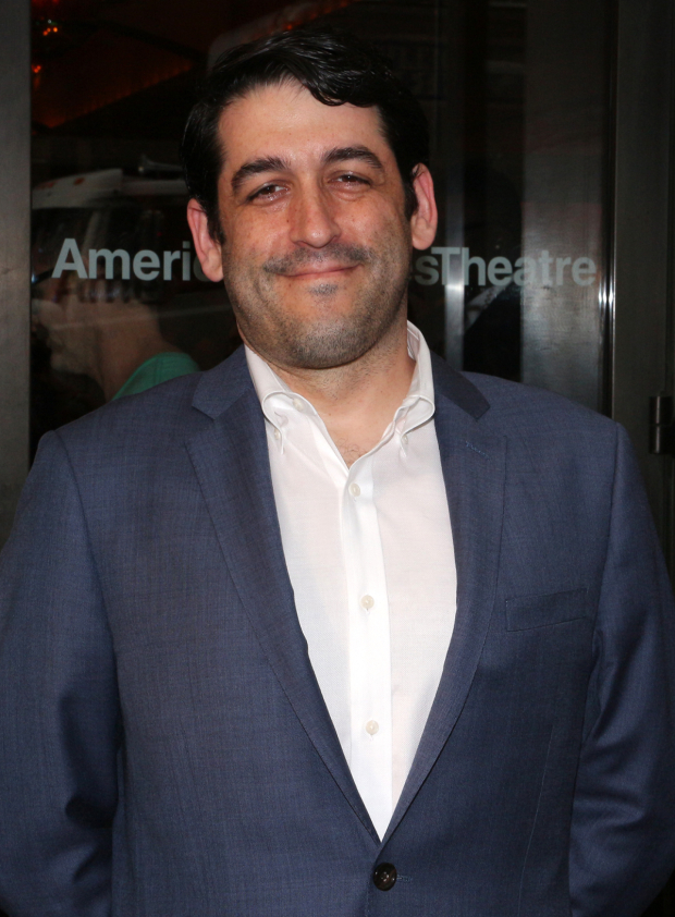 <p>LCT3 artistic director Evan Cabnet heads into the American Airlines Theatre.</p><br />(© David Gordon)
