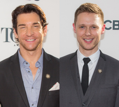 <p>Lead actor in a musical nominee Andy Karl (<em>Rocky</em>) and lead actor in a play nominee Samuel Barnett (<em>Twelfth Night</em>) both came out to the Paramount Hotel event.</p><br />(© Seth Walters)