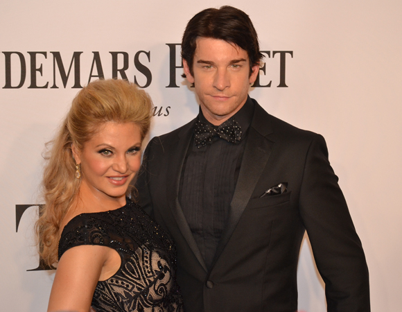 <p>Lead Actor in a Musical nominee Andy Karl <em>Rocky</em>s out with Broadway wife Orfeh.</p><br />(© David Gordon)