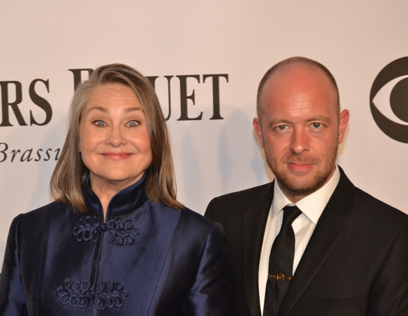 <p>Lead Actress in a Play nominee Cherry Jones is excited to be at the 68th Annual Tony Awards with her <em>Glass Menagerie</em> director and fellow nominee John Tiffany.</p><br />(© David Gordon)
