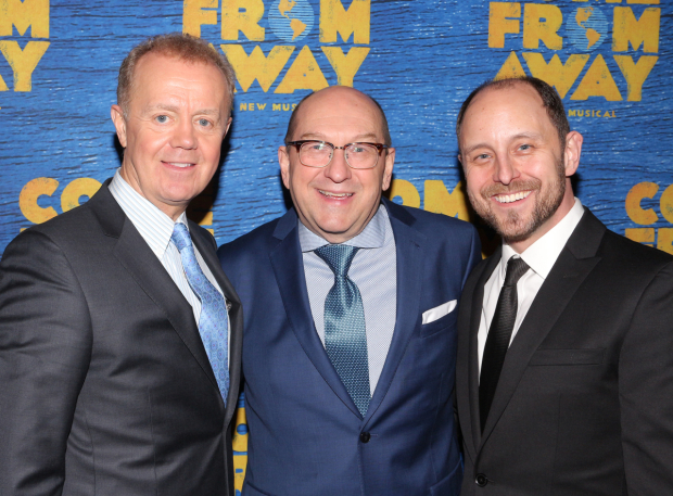 <p>Lee MacDougall, Joel Hatch, and Geno Carr are proud to celebrate their opening night.</p><br />(© David Gordon)