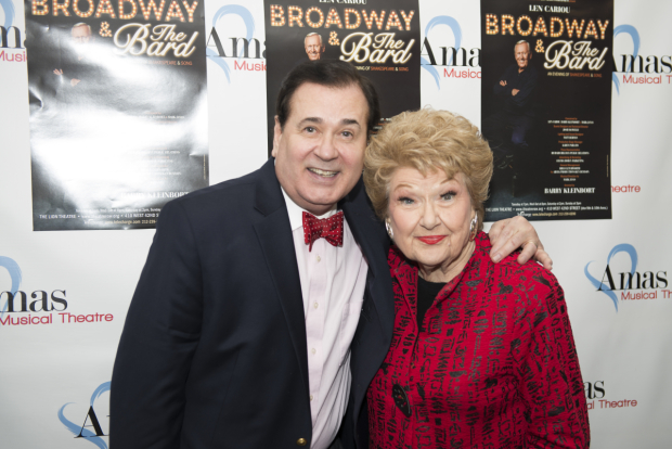 <p>Lee Roy Reams shares a hug with Marilyn Maye.</p><br />(© Allison Stock)