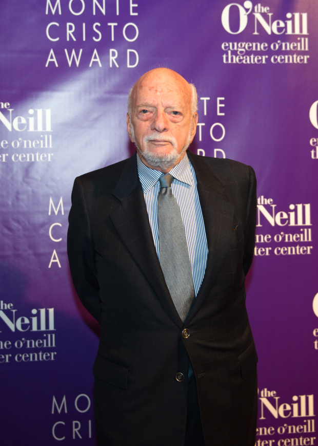 <p>Legendary director Harold Prince poses for photos.</p><br />(© Allison Stock)