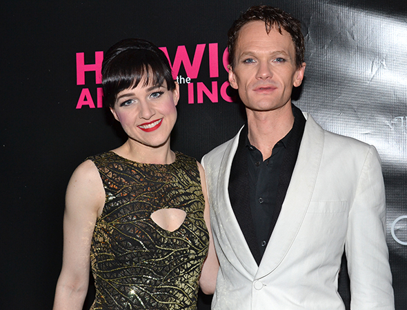 <p>Lena Hall and Neil Patrick Harris share a photo after the show.</p><br />(© David Gordon)