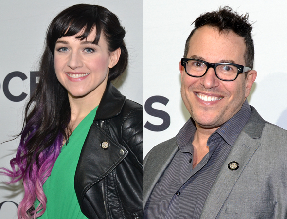 <p>Lena Hall (Best Featured Actress in a Musical) and Michael Mayer (Best Director of a Musical) are proud to be on the team of <em>Hedwig and the Angry Inch</em>.</p><br />(© David Gordon)