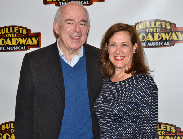 <p>Lenny Wolpe and Karen Ziemba smile for the cameras.</p><br />(© David Gordon)