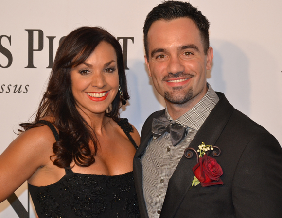 <p><em>Les Misérables</em>&#39&#x3B; Tony-nominated Jean Valjean, Ramin Karimloo, enjoys the evening with his wife.</p><br />(© David Gordon)