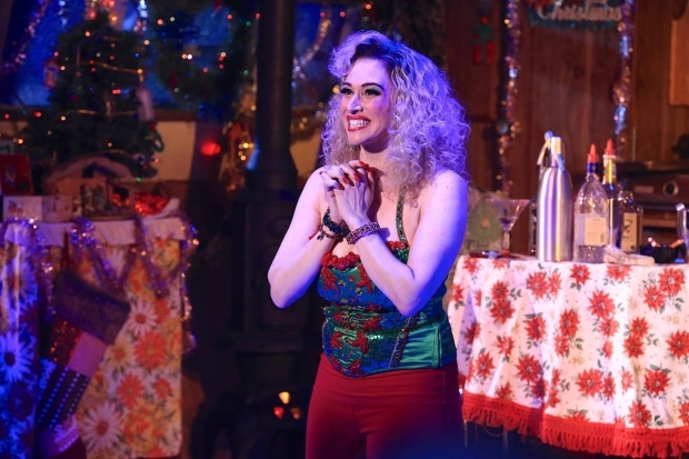 <p>Lesli Margherita takes a bow at curtain call.</p><br />(© Tricia Baron)