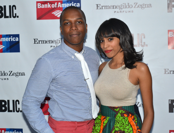 <p>Leslie Odom, Jr. saw the show with his wife, Nicolette.</p><br />(© David Gordon)