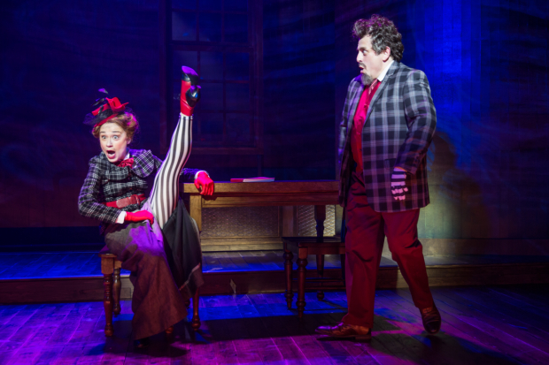<p>Lianne Marie Dobbs and Michael McCormick perform a number.</p><br />(© Matt Murphy)