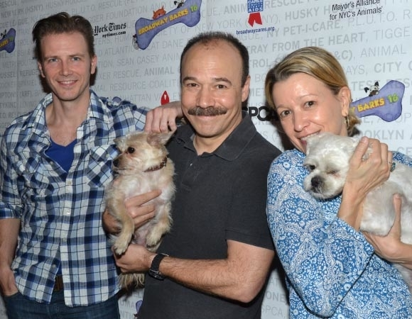 <p>Life for these dogs would truly be a cabaret if they got adopted by Bill Heck, Danny Burstein, and Linda Emond.</p><br />(© David Gordon)