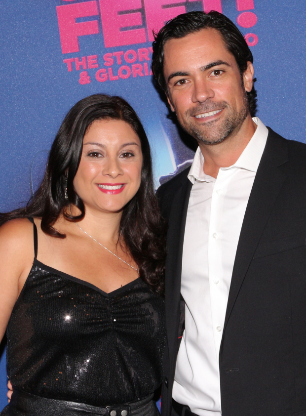 <p>Lily and Danny Pino are thrilled to share a date at <em>On Your Feet!</em></p><br />(© David Gordon)