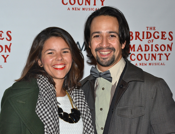 <p>Lin-Manuel Miranda and his wife, Vanessa Nadal, are on the VIP list.</p><br />(© David Gordon)