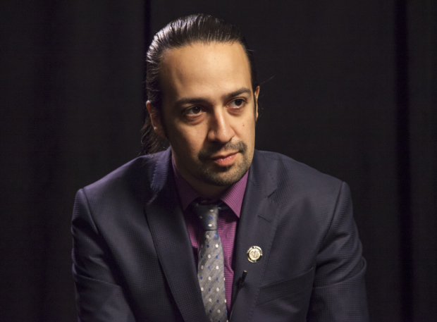 <p>Lin-Manuel Miranda is nominated for Best Book, Best Score, and Best Leading Actor for his musical <em>Hamilton</em>.</p><br />(© Seth Walters)