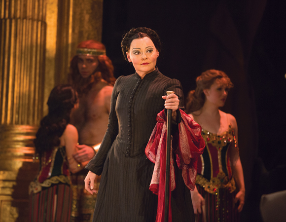 <p>Linda Balgord as Madame Giry.</p><br />(© Matthew Murphy)