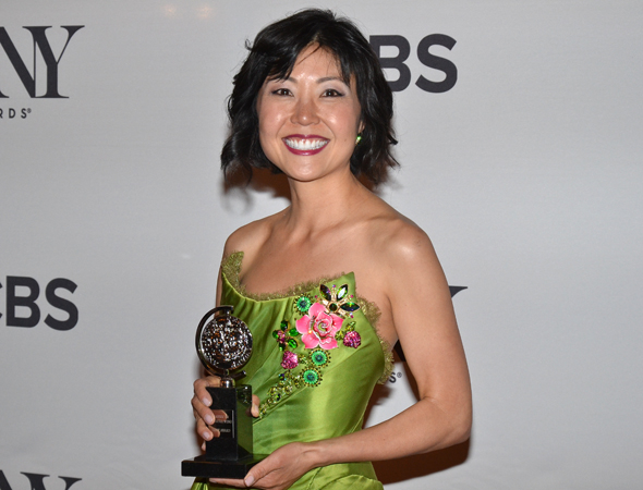 <p>Linda Cho, Best Costume Design of a Musical winner for <em>A Gentleman&#39&#x3B;s Guide to Love and Murder</em>.</p><br />(© David Gordon)