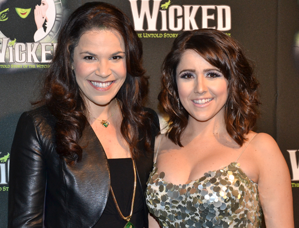 <p>Lindsay Mendez and Alli Mauzey lead the current company as Elphaba and Glinda.</p><br />(© David Gordon)