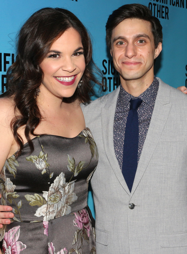 <p>Lindsay Mendez and Gideon Glick head the cast of this new comedy.</p><br />(© David Gordon)