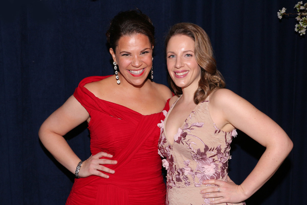 <p>Lindsay Mendez and Jessie Mueller take on the roles of Carrie Pipperidge and Julie Jordan.</p><br />(© David Gordon)