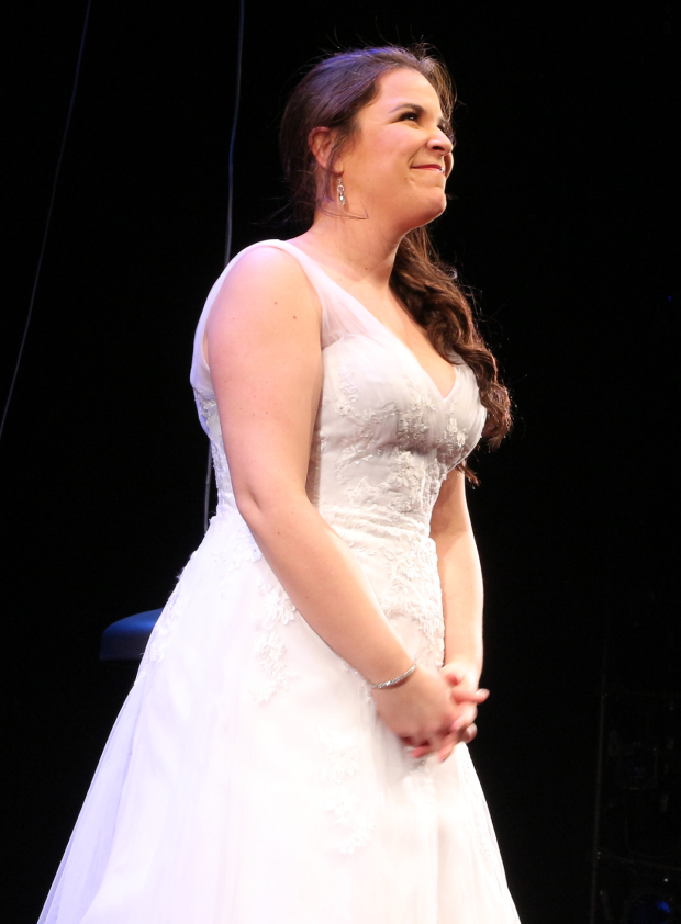 <p>Lindsay Mendez takes her bow.</p><br />(© David Gordon)