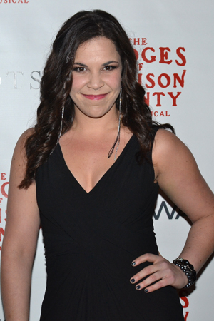 <p>Lindsay Mendez was also on hand to join the Derek Klena cheering section, having starred with him in both <em>Dogfight</em> and <em>Wicked</em>.</p><br />(© David Gordon)