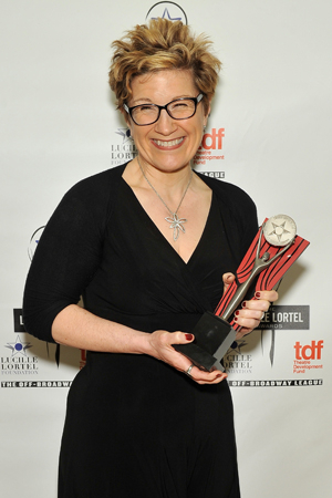 <p>Lisa Kron took home the statue for her work in <em>Good Person of Szechwan</em>.</p><br />(© Getty Images)