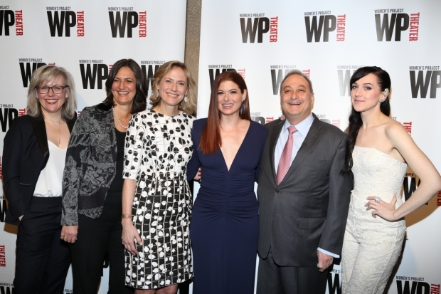 <p>Lisa McNulty, Sandy Ashendorf, Ann Sarnoff, Debra Messing, Fernando Garip, and Lena Hall celebrated the evening.</p><br />(© Tricia Baron)
