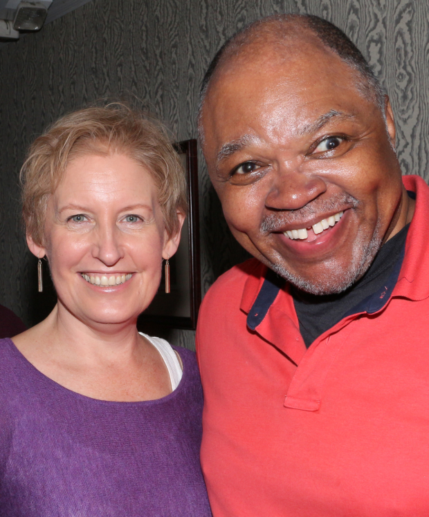 <p>Liz Callaway (Grizabella) shares a photo with Ken Prymus (Old Deuteronomy).</p><br />(© David Gordon)